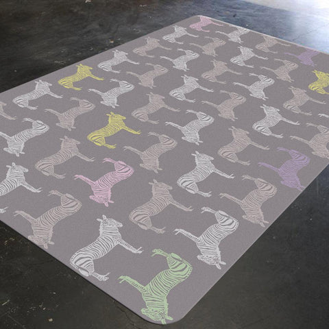 Zebra Rug, Mauve, Animal Rug, Girls Rug