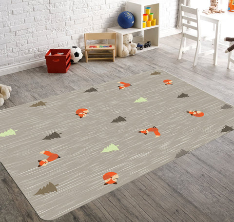 Woodland Nursery Rug, Childrens Rugs, Woodland Nursery Decor, Fox Rug
