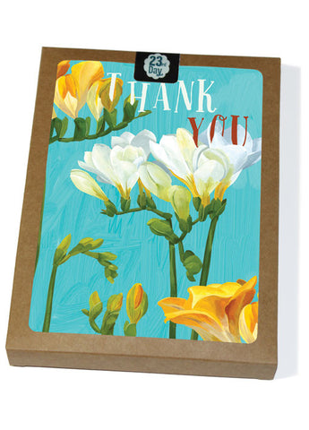 Thanks Freesia Boxed Cards