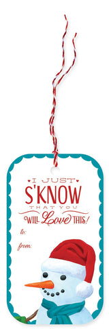 Snowman  Holiday Gift Tags