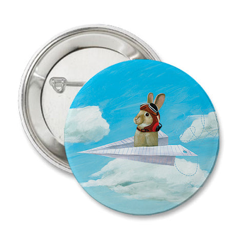 Air Bunny Round Button
