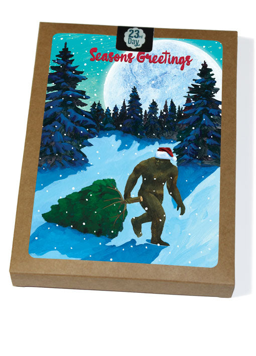 Sasquatch Christmas  Boxed Cards