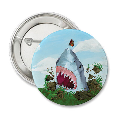 Land Shark Round Button