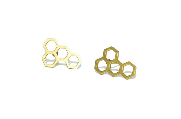 Honeycomb studs | gold