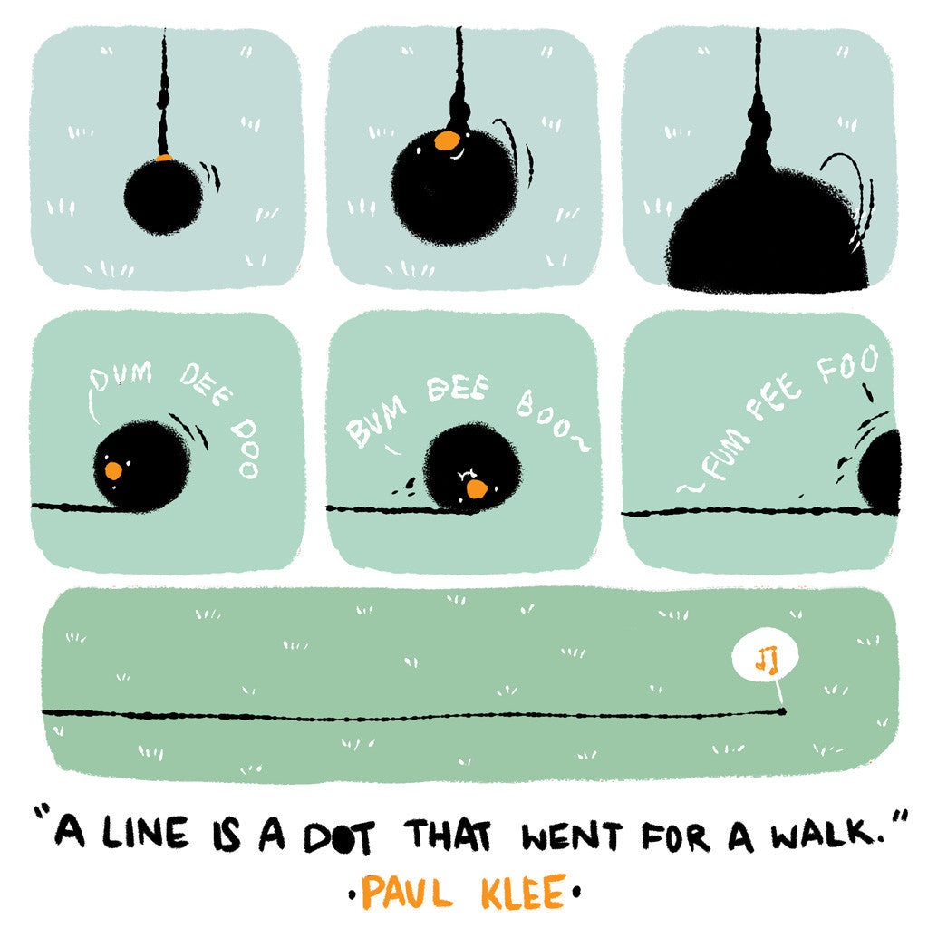 """A Dot that Went for a Walk"" Paul Klee x Teressa Ong - 297mm x 297mm Giclée Print"
