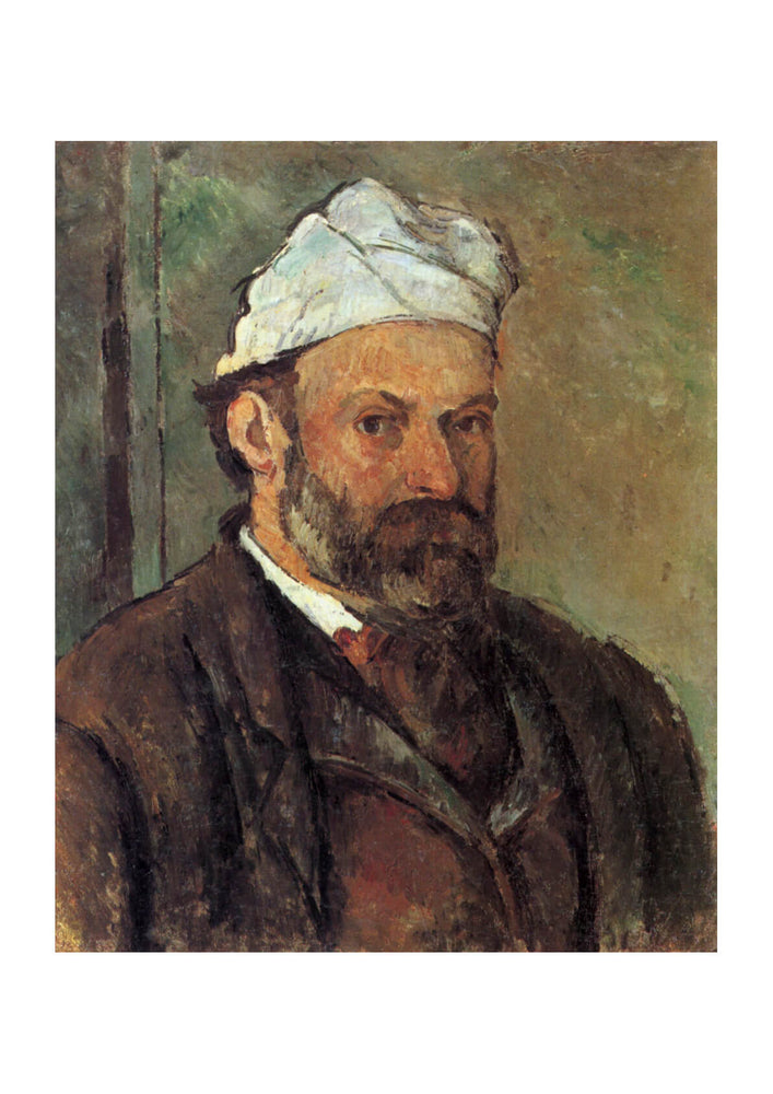 Paul Cezanne - Self Portrait White Hat
