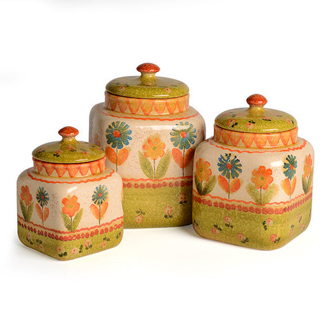 Festa Canister Set with Green