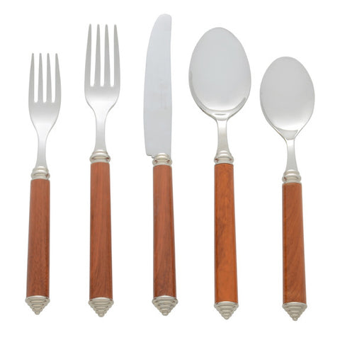 5 Piece Place Setting of Condotti in Simulated Wood
