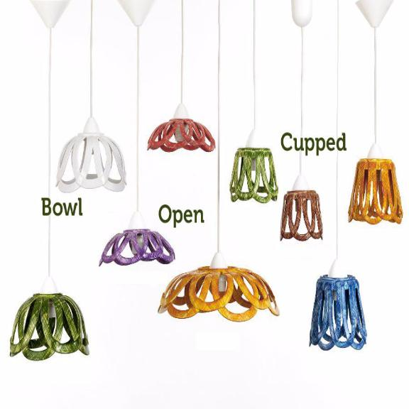 Custom Bowl, Cupped and Open Shape Ceiling Lamps
