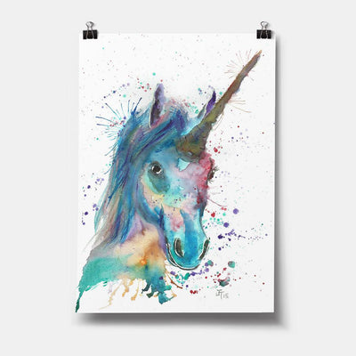 """Marge"" Unicorn Art Print"