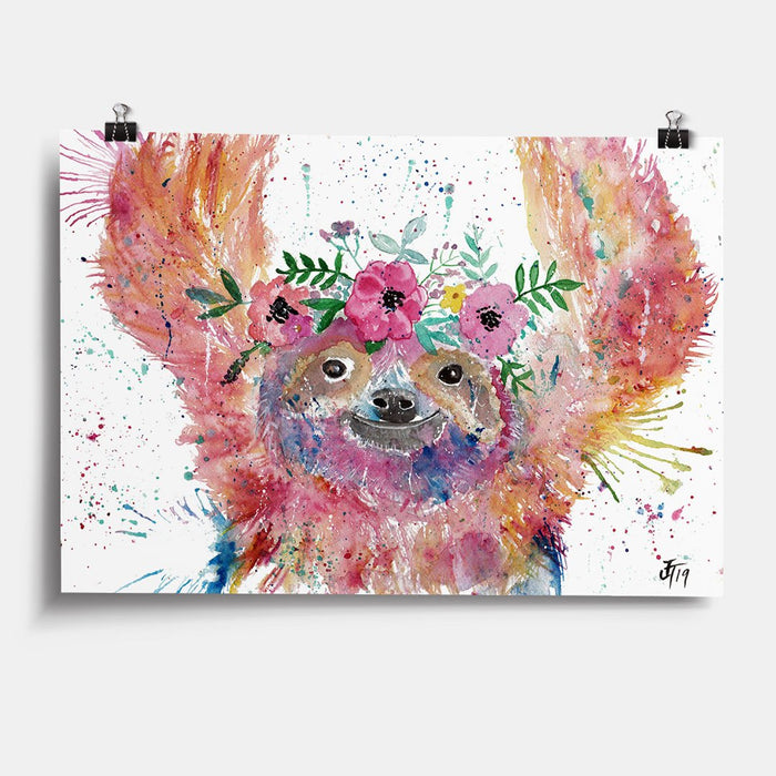 Hey Mrs Sloth Art Print
