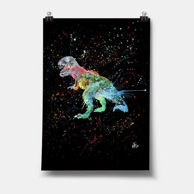 """Gary"" T-Rex Enchanted Art Print"