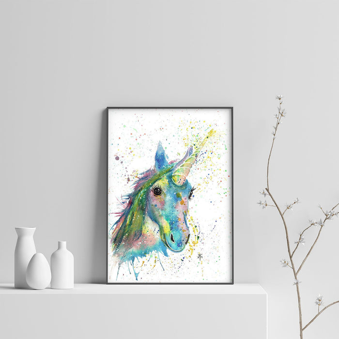 """Patty"" Unicorn Art Print"