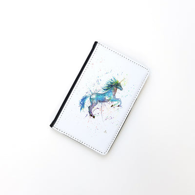 """Blue Unicorn"" Passport Holder"