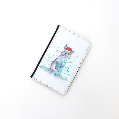 """Christmas Bunny"" Passport Holder"