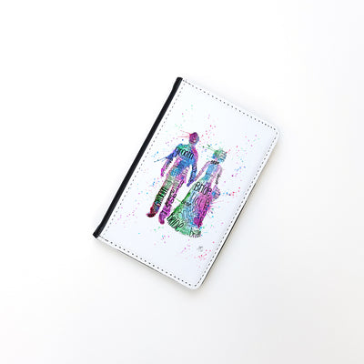 """Bride and Groom (Pink)"" Passport Holder"