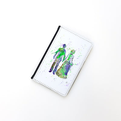 """Bride and Groom (Green)"" Passport Holder"