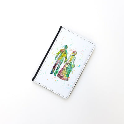 """Bride and Groom"" Passport Holder"