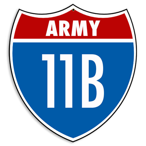 Army Infantry 11B Sign