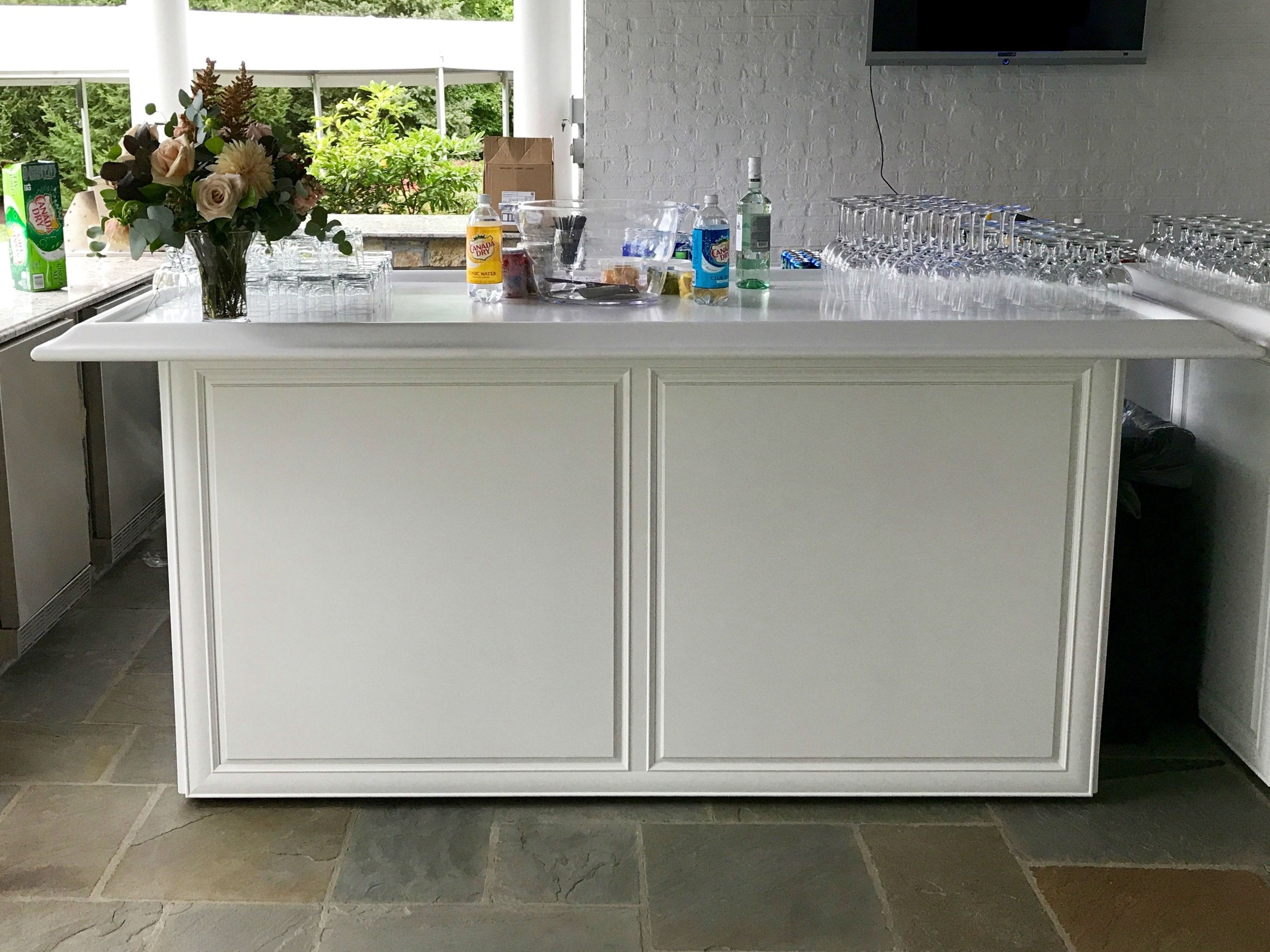 White Wooden Front Bar