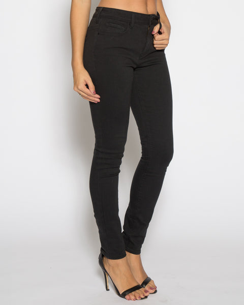High Rise Color Denim- Black