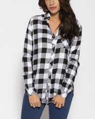 WENS Apparel Austin Check Shirt in Black White