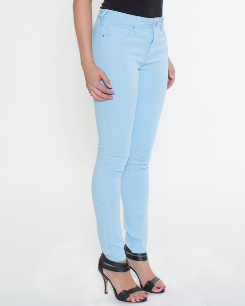 High Rise Color Denim- Sky Blue