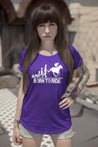 FunkyShirty Born To Ride (Women)  Creative Design - FunkyShirty