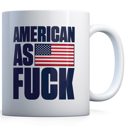 American as F - Blue - Coffee Mug