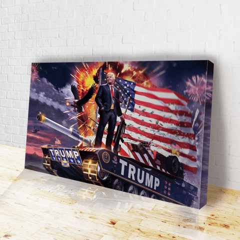 Trump Tank Canvas
