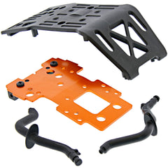 HPI Racing 1/8 Savage XL Flux Bulkhead Mount, Skidplate & Rear Bumper