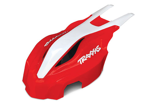 Traxxas Front Canopy - Red/White, 7911
