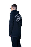 Hexagon logo hooded black