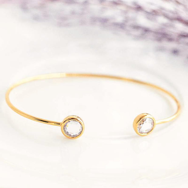 Bangle Liya - Plaqué Or 18K - Bijoux Majolie