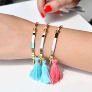Bangle Pompon Corail - Or - Bijoux Majolie