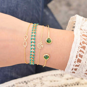 Majolie  - Juno Empire Green Gold Bracelet -   - 1