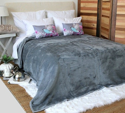 Plain Luxury Blanket Dove Grey  -  Blankets and Weaves - 1