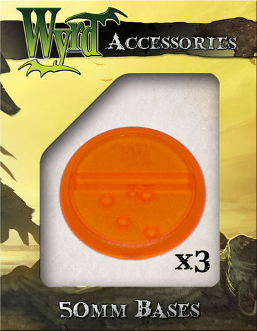 Orange 50mm Translucent Bases  (3 pack)