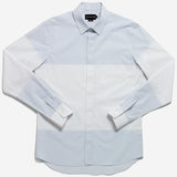 Outclass Attire - Engineered Stripe Dress Shirt - White