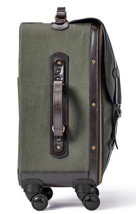 Filson Rugged Twill Rolling 4-Wheel Carry On Otter Green - The Painted Trout