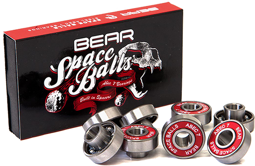 Bear Space Balls Abec-7 8Mm Bearings Sil/Red