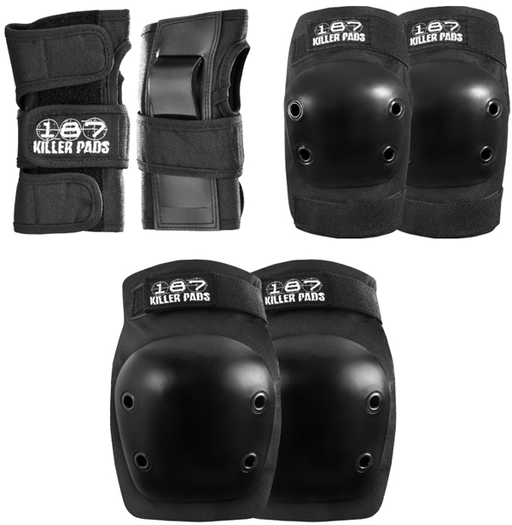 187 6-Pack Junior Pad Set Black