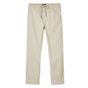 Reyn Spooner Mens beach pants in Stone with drawstring waistband