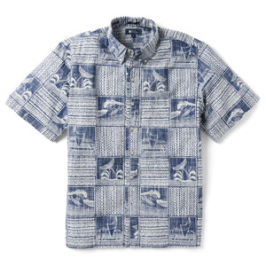 Reyn Spooner Oceans Playground Classic Fit Button Front Shirt in TWILIGHT BLUE
