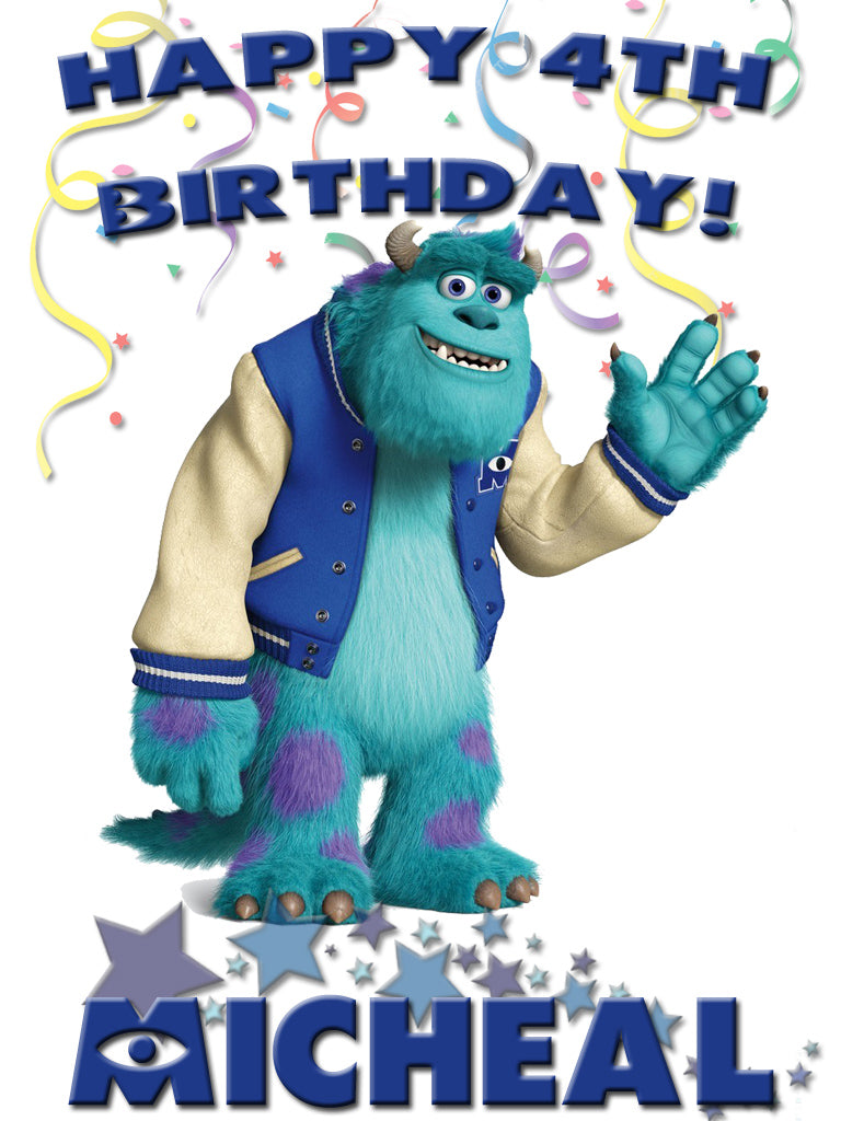 Personalized Custom Disney Birthday Monsters Inc Sully Shirt T-shirt Very Cute!