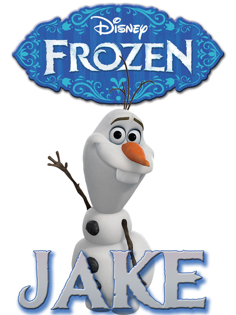 Personalized Disney Frozen Movie Olaf T-shirt With Name Tee Shirt NEW Great Gift!