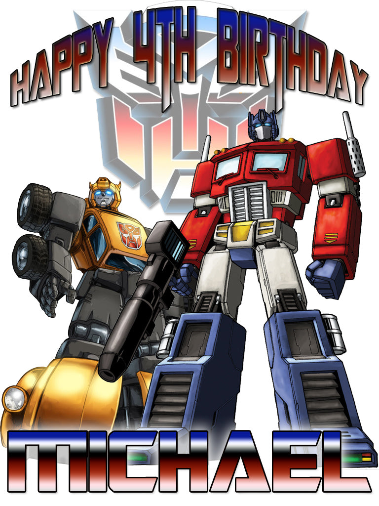 Personalized Custom Transformers Birthday Shirt T-shirt Prime Bumblebee Great Gift!