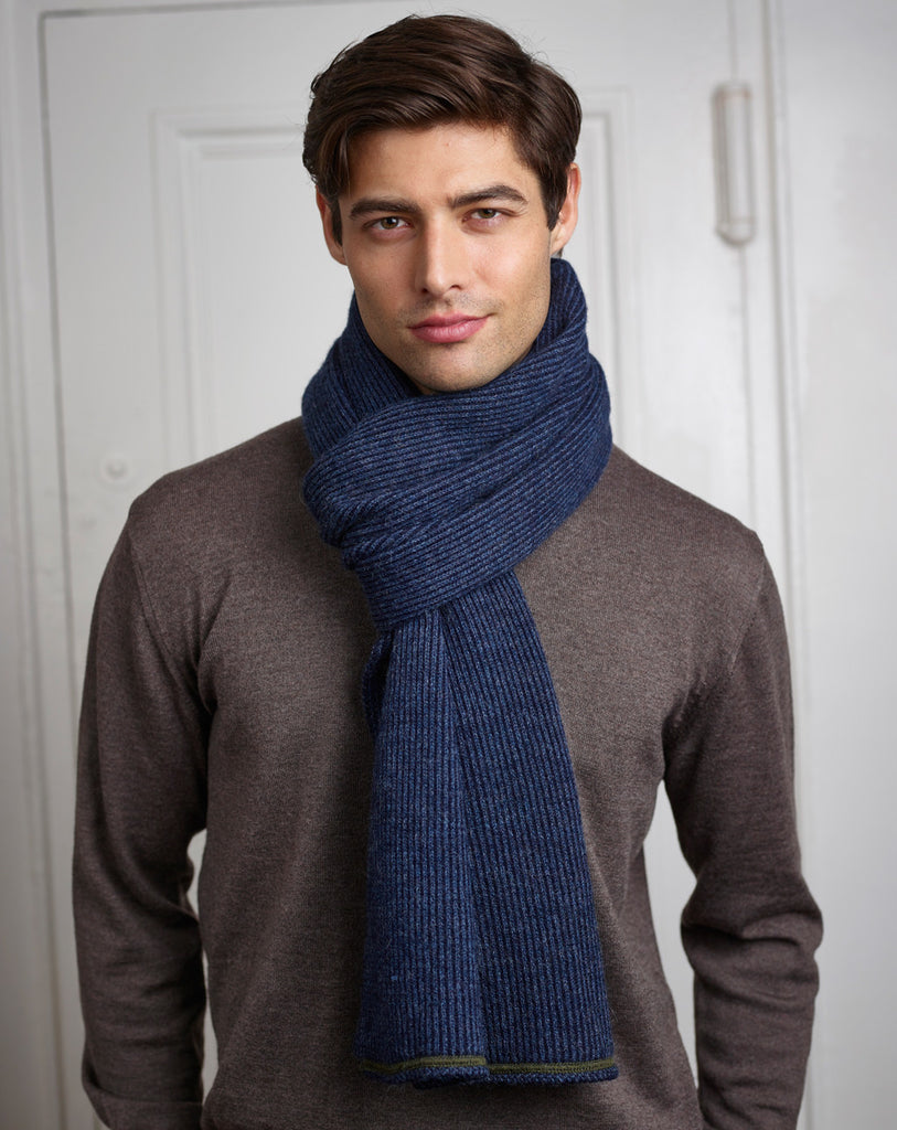 Fisher Scarf in Navy/Cobalt