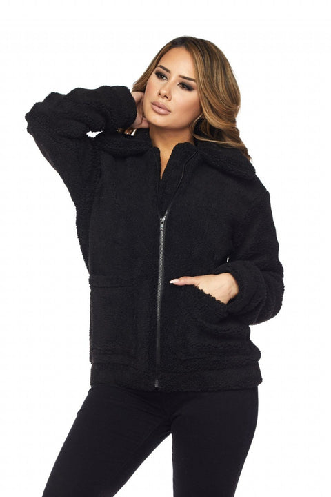 Black Thalia Coat - Jackets - Marsia