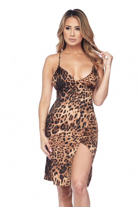 Alessia Leopard Dress - Dress - Marsia